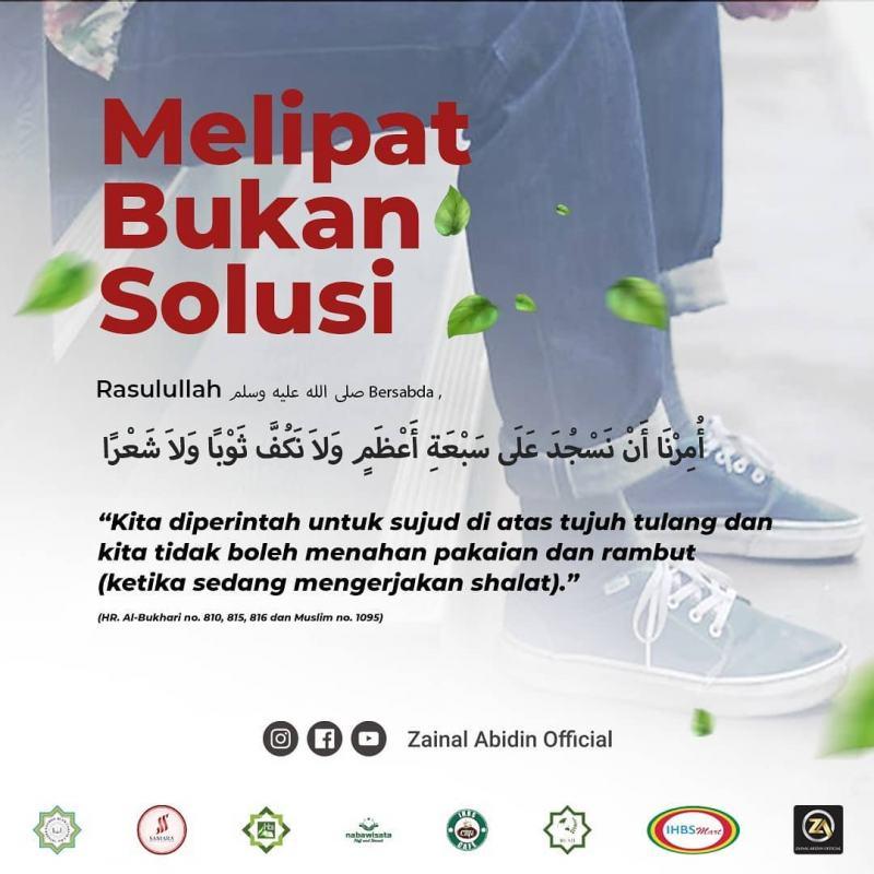 MELIPAT/ MENGGULUNG CELANA BUKANLAH SOLUSI