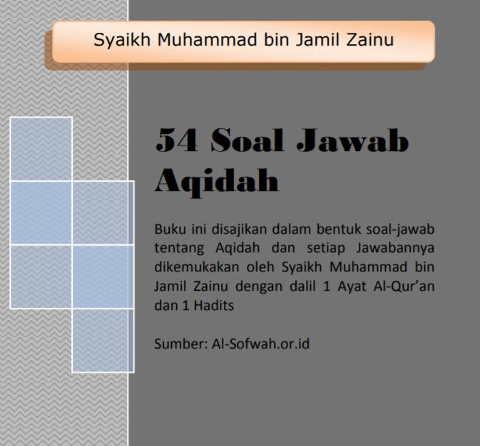 54 SOAL JAWAB AKIDAH (TAUTAN e-BOOK)