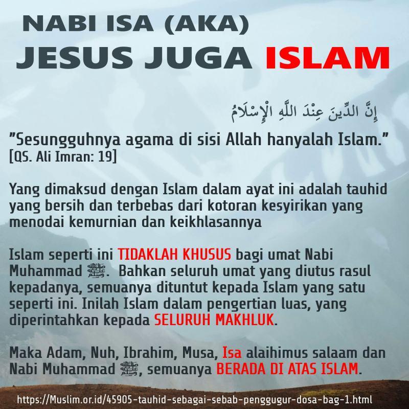 NABI ISA (AKA) JESUS JUGA ISLAM