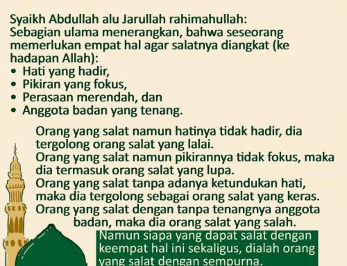 TIPS SUPAYA IBADAH SALAT DITERIMA