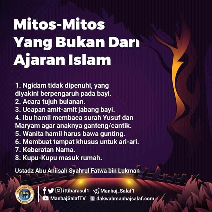 MITOS-MITOS ANEH YANG BUKAN BERASAL DARI AJARAN ISLAM