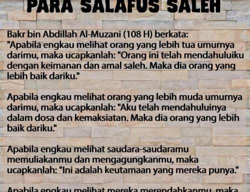 TAWADHU DAN TAKUTNYA PARA SALAFUS SALEH
