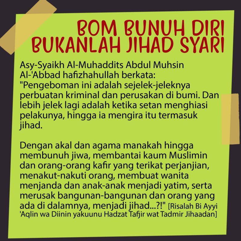 BOM BUNUH DIRI BUKANLAH JIHAD SYARI