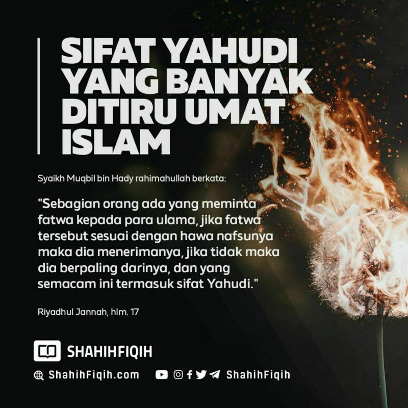 SIFAT YAHUDI YANG BANYAK DITIRU UMAT ISLAM