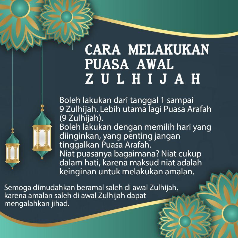 CARA MELAKUKAN PUASA AWAL ZULHIJAH