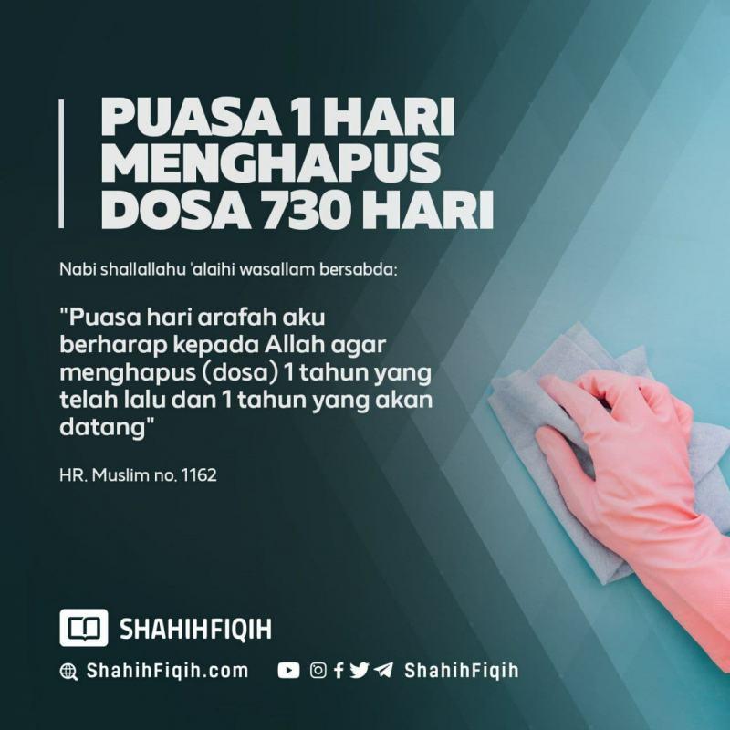JANGAN LUPA PUASA ARAFAH BESOK SENIN, 9 ZULHIJAH 1442H (19 JULI 2021)!