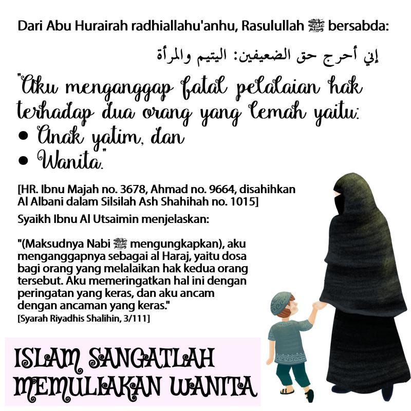 ISLAM SANGATLAH MEMULIAKAN WANITA