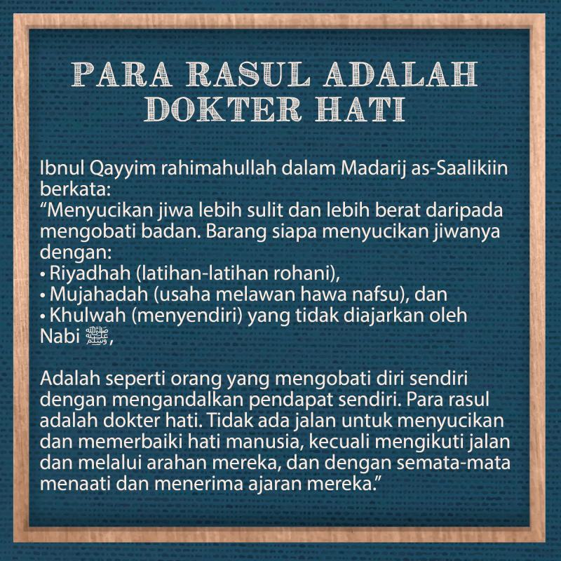 PARA RASUL ADALAH DOKTER HATI